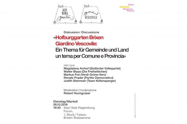 """Discussione: """"Giardino Vescovile: un tema per Comune e Provincia"""""""