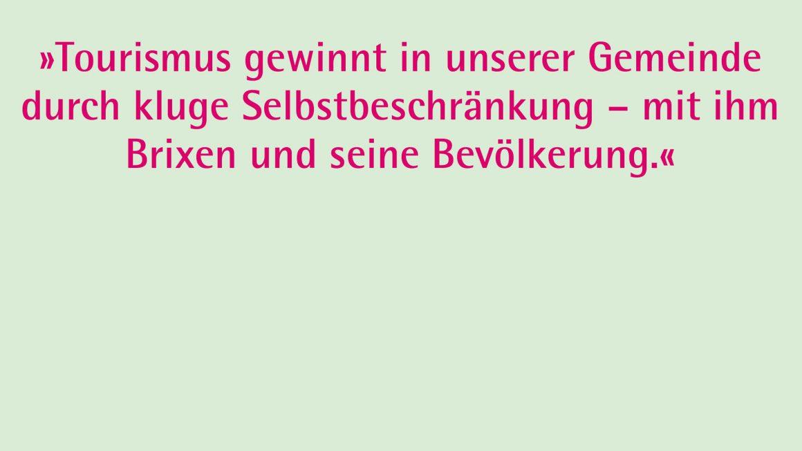 Tourismus in Brixen: Fakts und Fiktionen
