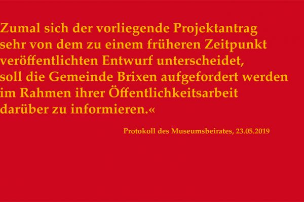 Offener Brief an BM Peter Brunner